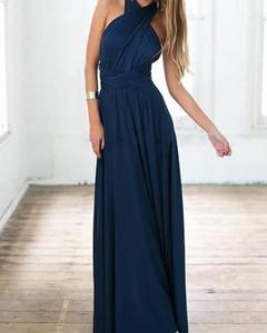 Niebieska sukienka Kendallme maxi trapezowa bez rękawów