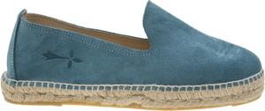 Turkusowe buty letnie męskie Manebí z tkaniny