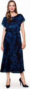 Sukienka w niebieskie kwiaty potis & verso kiara