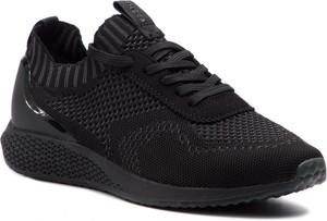Czarne buty sportowe Tamaris w sportowym stylu na koturnie