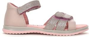Różowe buty dziecięce letnie RenBut na rzepy dla dziewczynek