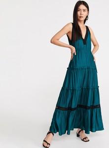 Sukienka Reserved maxi bez rękawów z dekoltem w kształcie litery v