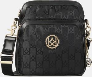 Czarna torebka Kazar na ramię lakierowana w stylu glamour