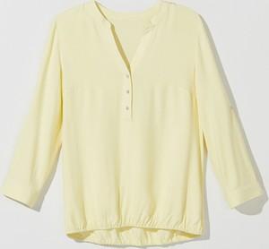 Żółta bluzka Mohito w stylu casual z długim rękawem