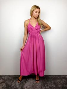 Różowa sukienka fagobutik.pl na ramiączkach