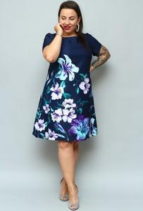 Sukienka KARKO z krótkim rękawem w stylu casual midi