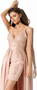 Sukienka LAVIKA z dekoltem w kształcie litery v