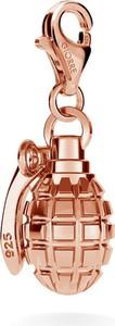 GIORRE SREBRNY CHARMS GRANAT 925 : Kolor pokrycia srebra - Pokrycie Różowym 18K Złotem