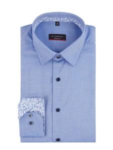 Koszula Eterna z bawełny w stylu casual z klasycznym kołnierzykiem