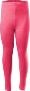 Różowe legginsy dziecięce Rennwear z bawełny