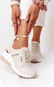 Buty sportowe S.Barski sznurowane ze skóry