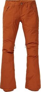 Pomarańczowe spodnie sportowe Burton w sportowym stylu