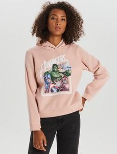 Różowa bluza Cropp krótka
