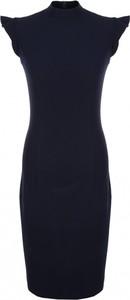 Niebieska sukienka Nife dopasowana