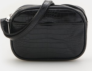 Czarna torebka Sinsay ze skóry