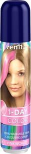 Venita, 1-Day Color, koloryzujący spray do włosów, Różowy Świat, 50 ml
