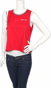 Czerwony top Kendall & Kylie z okrągłym dekoltem