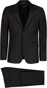Czarny garnitur Lavard z jedwabiu