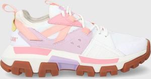 Buty sportowe Caterpillar ze skóry sznurowane na platformie
