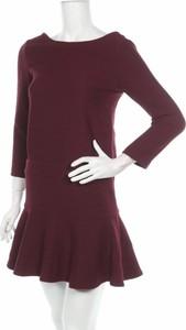 Czerwona sukienka Comptoir Des Créations mini z długim rękawem