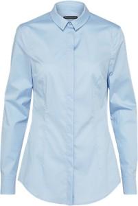 Błękitna koszula drykorn z długim rękawem