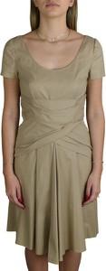 Sukienka Prada mini z krótkim rękawem z bawełny
