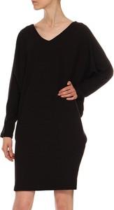 Czarna sukienka Yuliya Babich w stylu casual z długim rękawem