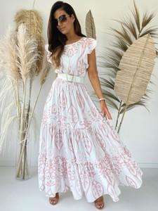 Sukienka Versada z krótkim rękawem z dekoltem w kształcie litery v
