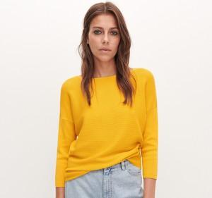Żółty sweter Reserved z dzianiny w stylu casual