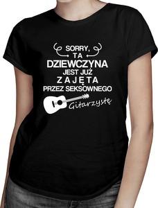 Czarny t-shirt Koszulkowy z krótkim rękawem z bawełny w młodzieżowym stylu