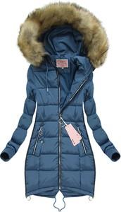 Niebieska kurtka Mhm w stylu casual długa