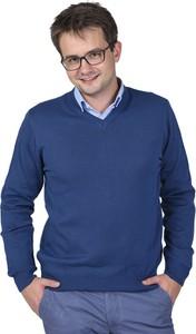 Niebieski sweter M. Lasota z bawełny w stylu casual