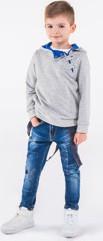 Niebieska bluza dziecięca ombre clothing