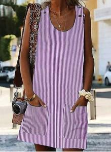 Fioletowa sukienka Cikelly mini w stylu casual