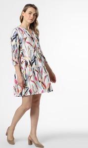 Sukienka STREET ONE z okrągłym dekoltem z lnu mini