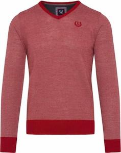 Czerwony sweter Lavard w stylu casual z wełny