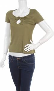 Zielona bluzka Sea Shell z krótkim rękawem