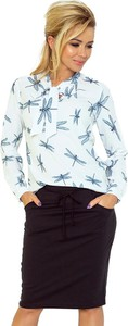 Bluzka Merg ze sznurowanym dekoltem z długim rękawem