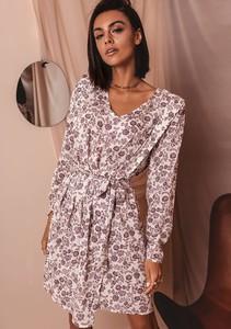 Sukienka Latika z tkaniny mini z długim rękawem