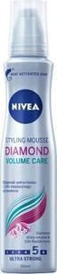 Nivea, Diamond Volume Care, pianka do włosów, ultra mocna, 150 ml