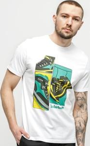 T-shirt Timberland z nadrukiem z krótkim rękawem
