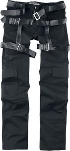 Czarne spodnie Emp z bawełny