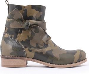Brązowe botki zapato ze skóry