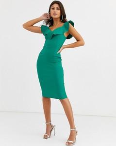 Zielona sukienka Vesper dopasowana midi