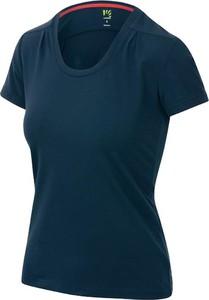 Niebieski t-shirt Karpos z okrągłym dekoltem z krótkim rękawem
