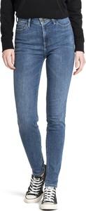 Niebieskie jeansy Lee w stylu casual z bawełny