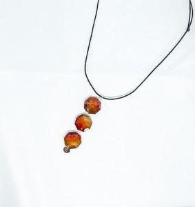 ANIA KRUK Naszyjnik sznurkowy LARA z kryształami Swarovskiego