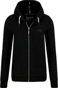 Czarna bluza Superdry w sportowym stylu krótka