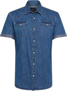Niebieska koszula Scotch & Soda z krótkim rękawem