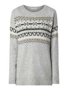 Sweter edc by Esprit z wełny z nadrukiem